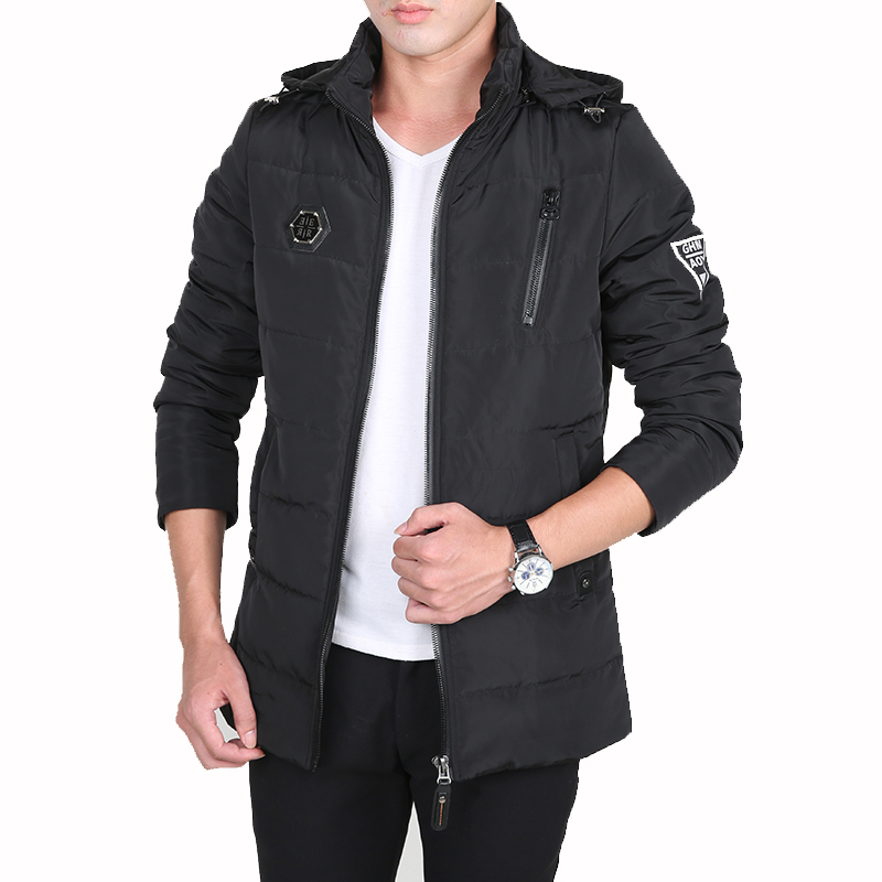 Men Winter Coat  New Arrival Men Warm Jackets Casual Solid Thick Jackets Male Fashion Hooded Parkas Slim Men Plus Size M-4XL free shipping winter parkas men jacket new 2017 thick warm loose brand original male plus size m 5xl coats 80hfx