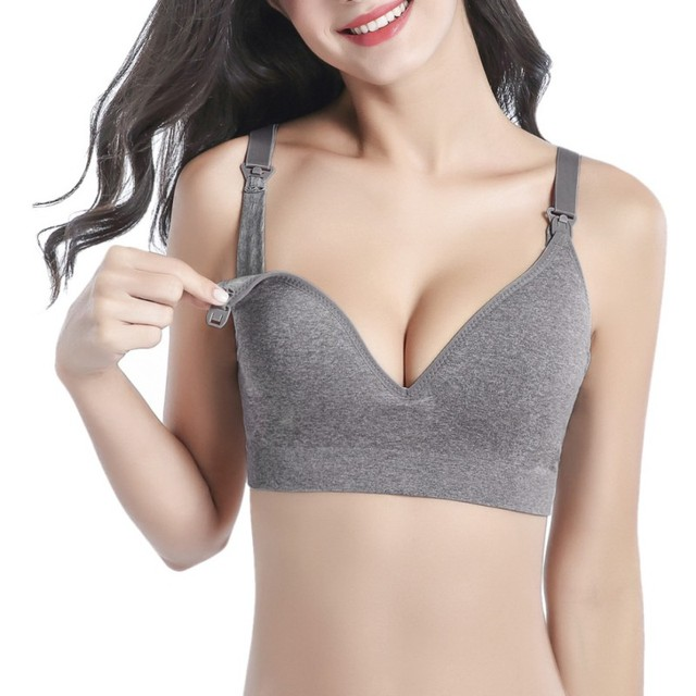 e5257cafc5 Breastfeeding Maternity Nursing Bras Cotton sleep bra For pregnant women  Pregnancy Seamless underwear Breast Feeding Bras