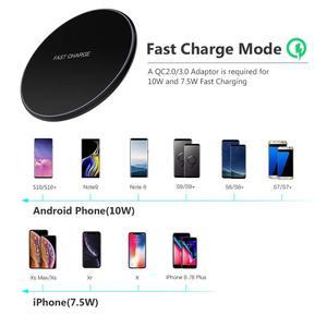 Image 5 - NTONPOWER 10 W Rápido Carregador Sem Fio Para o iphone X 8 Max XR XS Qi Carregador Sem Fio para Samsung S8 S9 além de Carregador de Telefone USB Pad