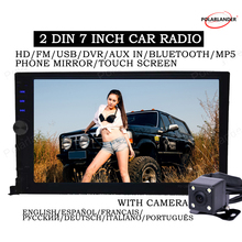 12V with rear view camera Bluetooth 2 din stereo Auto Electronics In Dash for most font