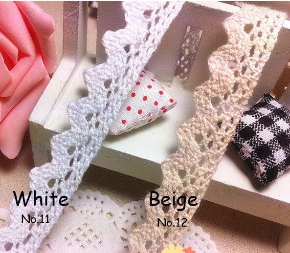 Zakka style хлопковая кружевная лента 17 мм x 5 ярдов белая/черная швейная лента, белое кружевное полотно, крутая кружевная тесьма