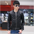 M-5XL!!!!! 2015 Spring Casual Faux Leather Jacket Men Motorcycle Mens Leather Jackets And Coats Male Short Coat