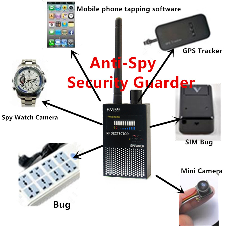 2018 Handheld 1MHz-8000MHz Wireless Signal Detector RF Radio FOR Car GPS Tracer Finder GSM Bug Camera Mobile WiFi Bug Anti-Spy