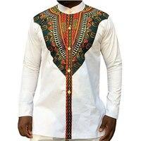 99fb4d6332 Tribal Ethnic Print African Dashiki Dress Shirts Men Africa Style Clothing  Long Sleeve Design