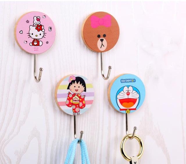 16 Pcs 2 Packs Cartoon Hello Kitty Doraemon Mickey Minnie Home Door Hook Glass Key Holder  sc 1 st  AliExpress.com & 16 Pcs 2 Packs Cartoon Hello Kitty Doraemon Mickey Minnie Home Door ...
