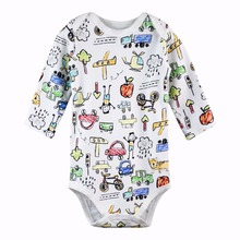 Baby boy Bodysuits Long sleeve Infant Jumpsuits Overalls 100%Cotton Coveralls Baby Clothing Set Cartoon Outerwear kid clothing цена 2017