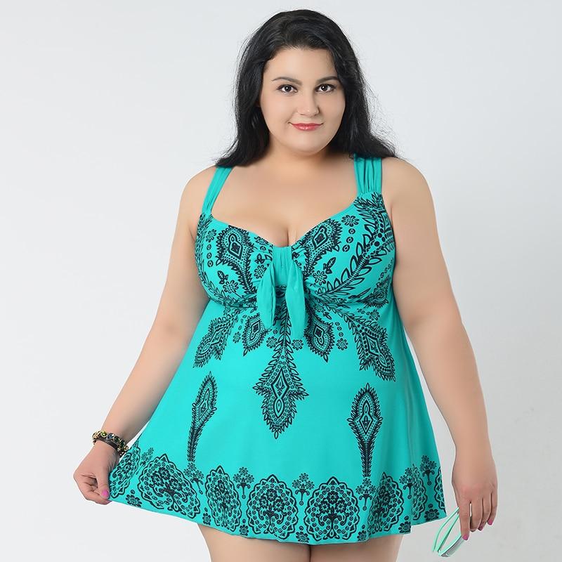 ФОТО Hot sale 4XL-8XL plus size bikinis woman one pieces swimwear Summer push up swimsuits tankini Monokini female Bathing Suits