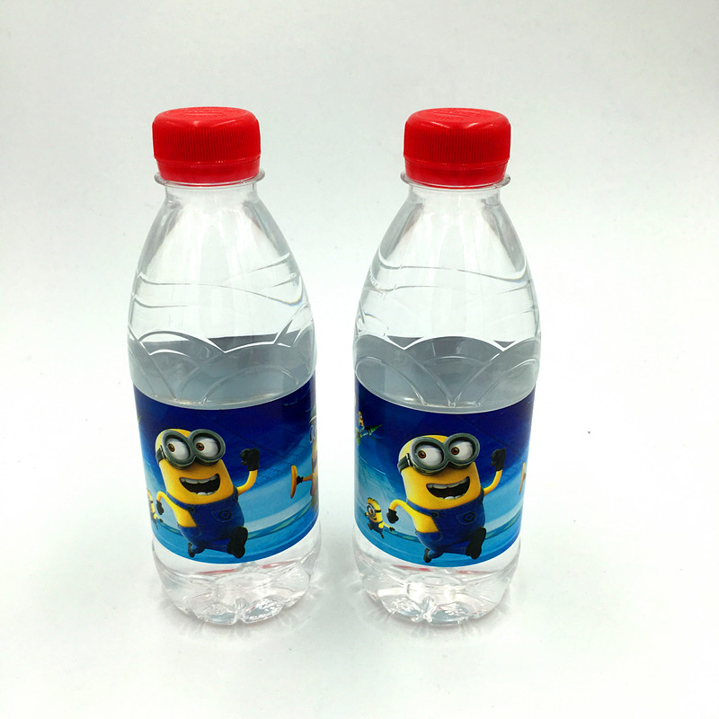 unidslote minions minions kids birthday party decoration etiqueta de la botella de agua botella de etiqueta feliz cumpleaos