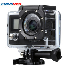 Excelvan Dual Screen Sport Action Camera With Photography Hanging Bag Remote Control Wifi 30M Waterproof Sports Camera