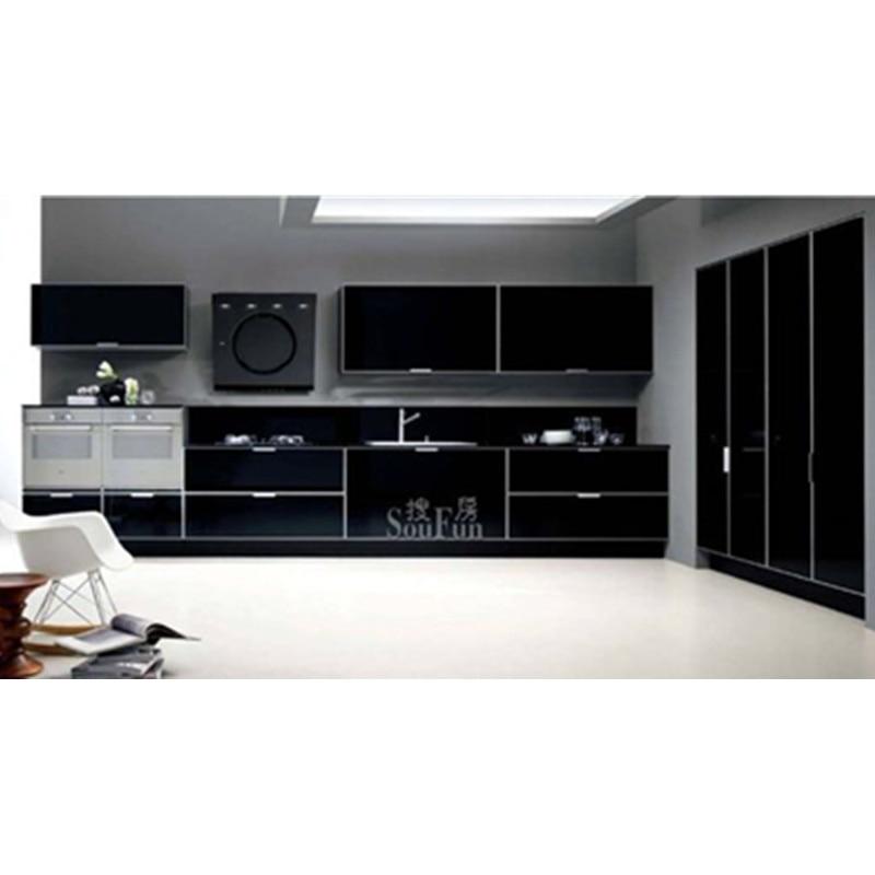 Made In China Modern Black Kitchen Cabinet-in Kitchen