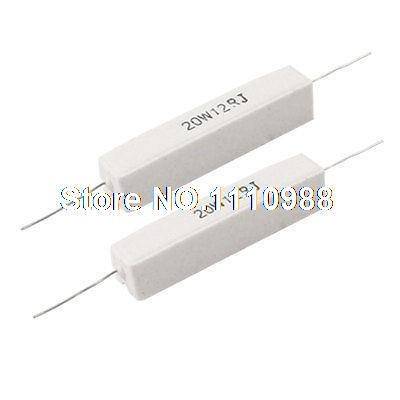 2 Pcs 5% 12 Ohm 20W Ceramic Cement Resistor Axial Lead 500m ohm axial leaded high voltage glass glaze resistor 5w watt