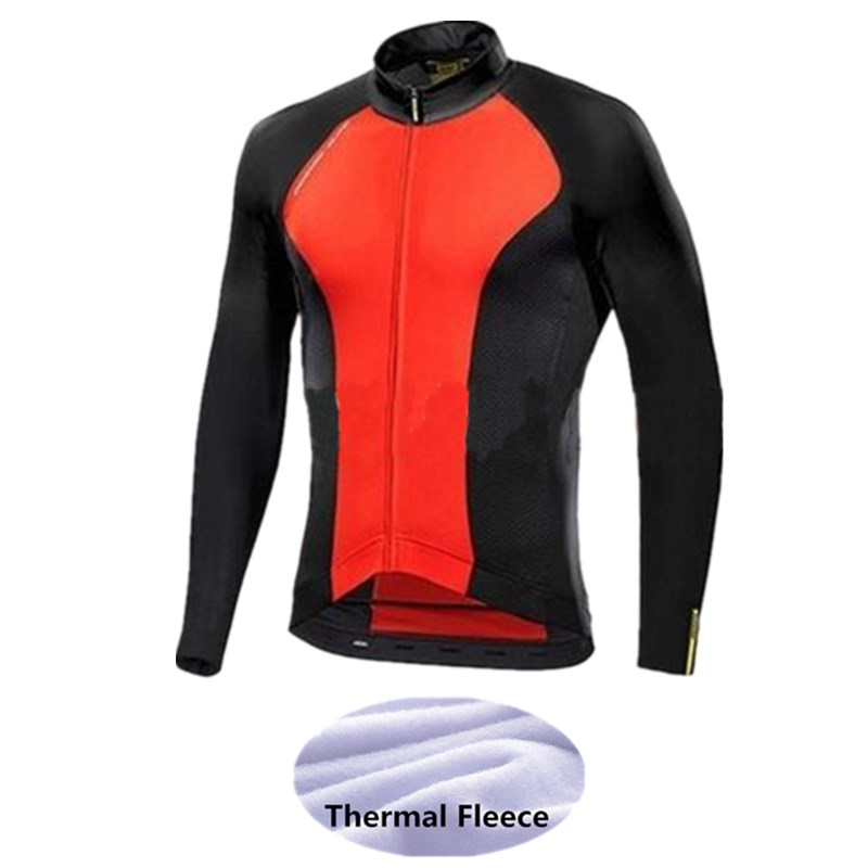 Breathable font b Pro b font Cycling Men s Bicycle Maillot Winter Thermal Fleece font b