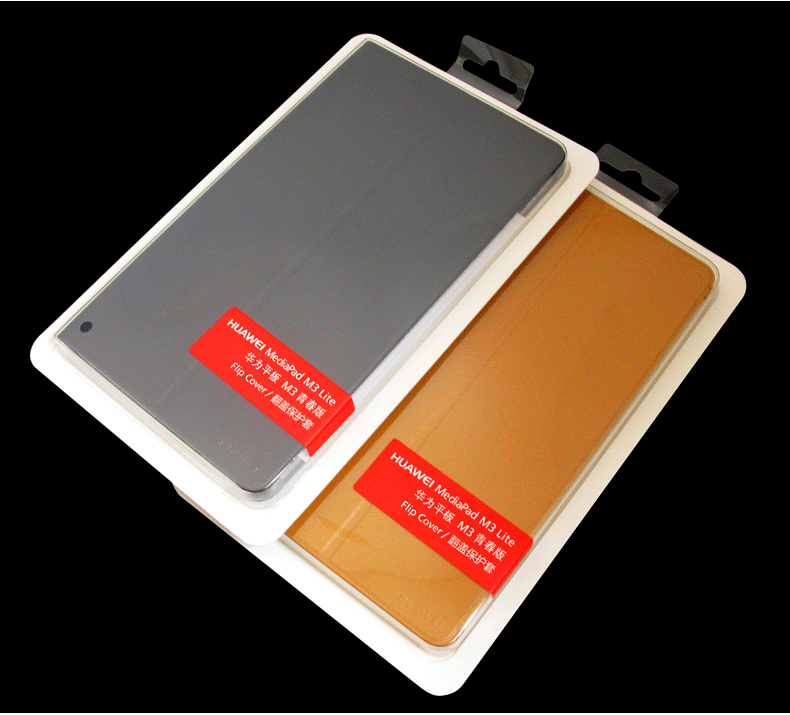 quality design 35233 1a6d5 US $16.58 17% OFF|Original Leather Flip Cover for Huawei Mediapad M3 8.4