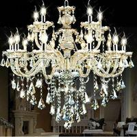 Promotion high quality K9 crystal luxury lobby crystal chandeliers. lighting fixtures with bulbs