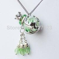 1 шт. ароматерапия диффузор ожерелье ( viridis ), Муранского флакон духов ожерелье, Бутылка для эфирного масла ожерелье