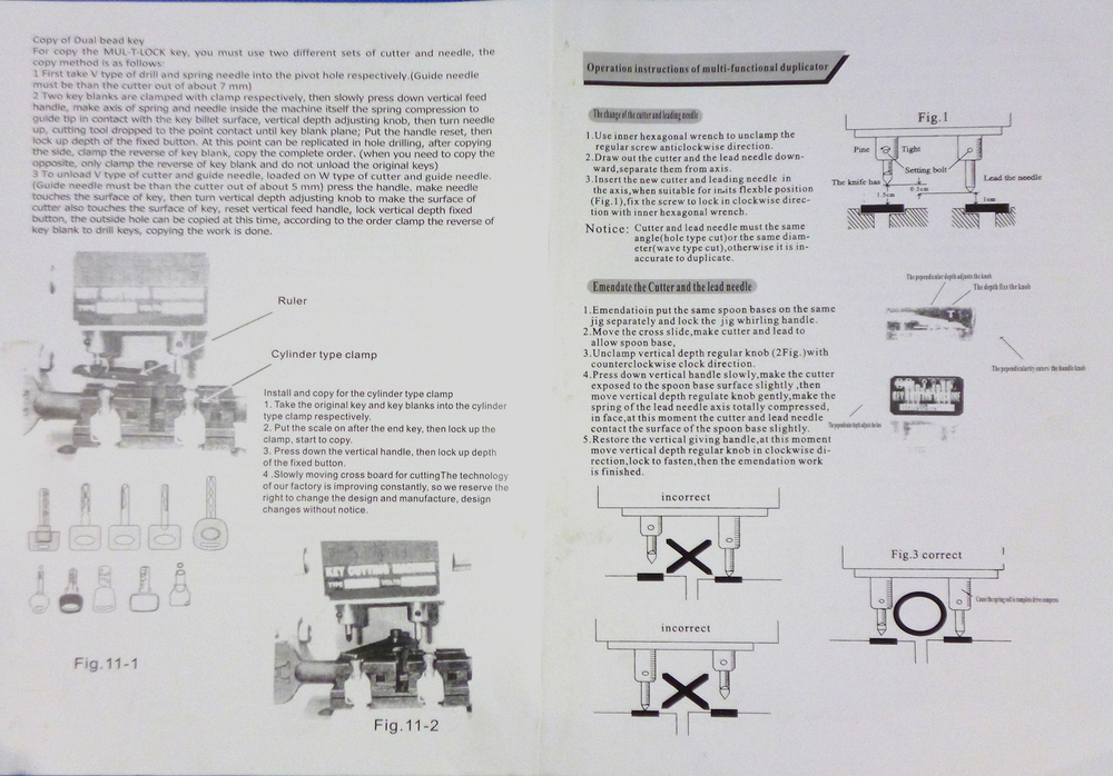 Defu Márka 998c modell Kulcsvágógép vágógombok Lakatos - Kézi szerszámok - Fénykép 6