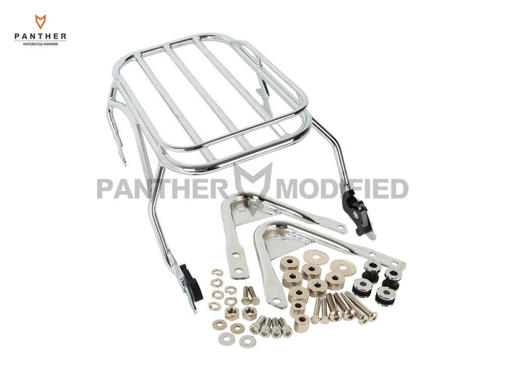 Chrome Motorcycle Luggage Rack & Docking Hardware Kits
