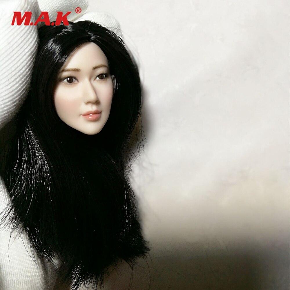 Custom Girl Head 1 6 Scale Female Head Sculpt Crystal Liu Head Carving Movie Actress for