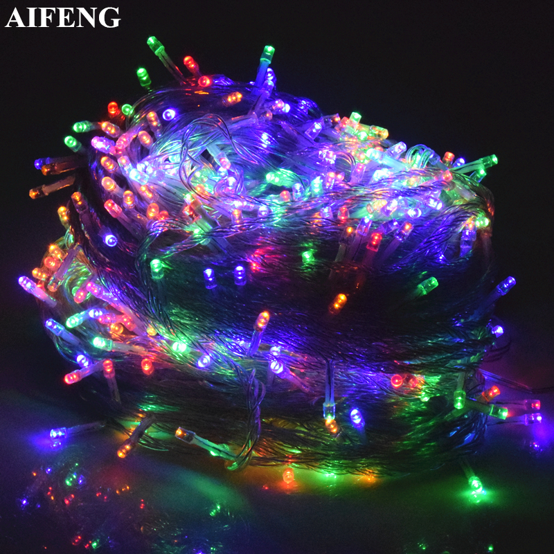 AIFENG Christmas Light 5M 10M 20M 30M 50M 100M Led String Fairy Light Holiday Wedding Party Decor Garland Light Christmas Lights
