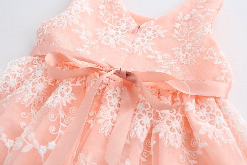 2017 Nuevo tulle Bordado Vestidos moda bebé lindo partido vestido ...