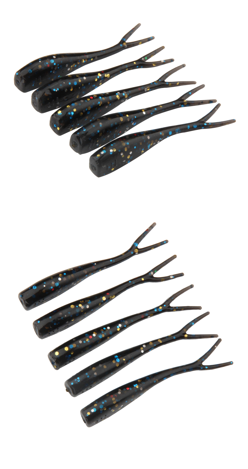 5cm 1g Mini Lures Soft Bait Fishing Worms 4colors OEM Acceptable Soft Fishing Lure Swimbaits Split Double Tail Shad-12 Per Bag (10)