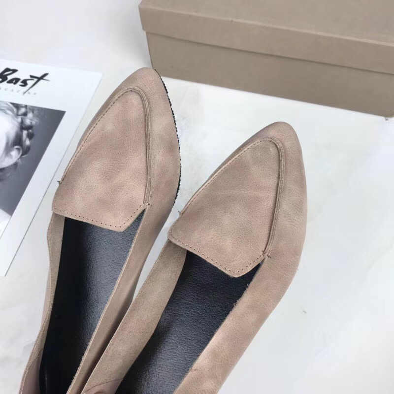 SexeMara yeni 100% hakiki deri kadın Flats ayakkabı rahat yumuşak sivri burun katı hamile sürüş bayanlar loafer ayakkabılar