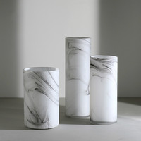 New Glass Vase Light Luxury Imitation Marble Pattern Glass Flower Creative Home Hotel Clubhouse Vase Decoration