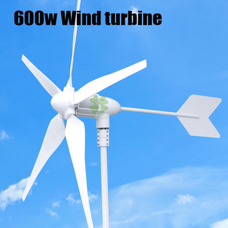 Hot Selling Rated 600w Max power 800w 3/5 Blades Small Wind Generator/Wind Turbines/Wind Mill 12v/24v Available .CE Approved free shipping 600w wind grid tie inverter with lcd data for 12v 24v ac wind turbine 90 260vac no need controller and battery