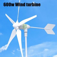 Hot Selling Rated 600w Max Power 800w 3 5 Blades Small Wind Generator Wind Turbines Wind