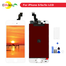 10PCS/Lot AAA+++ Quality LCD Display For iPhone 5S SE Screen Replacement Good touch No Dead Pixel+Tempered Glass+Tools+TPU