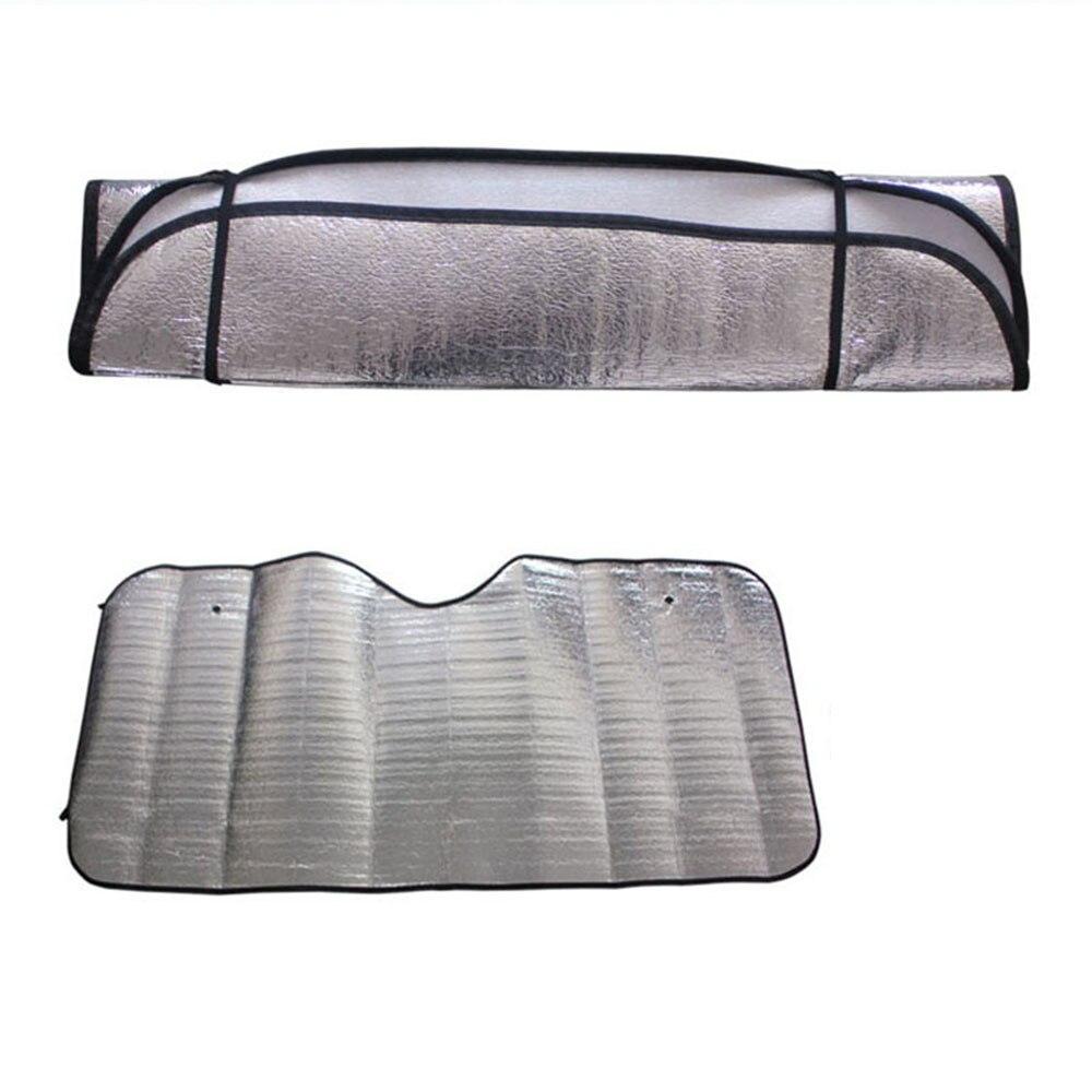 Car Styling Folding Jumbo Front Rear Car Window Sun Shade Auto Visor Windshield Block Cover Car Windshield Sunshade June 11