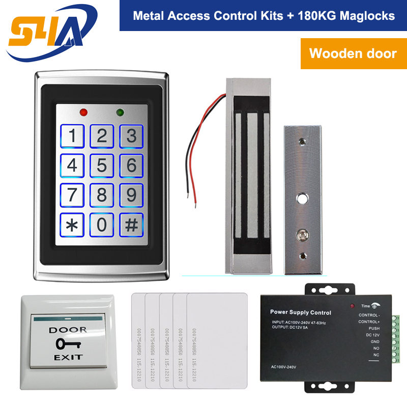 Standalone Rfid Door Access Control System For Wooden Door Work With 180kg Maglocks biometric standalone access control rfid access control for building management system