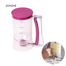 XUNZHE New 900ml cupcake Pastry Dough Dispenser pancake Muffin pastry creamy separator measuring cup baking Tools baking tool cake dough batter cream dispenser cupcake funnel batter separator valve measuring cup muffin cups optional cake mold