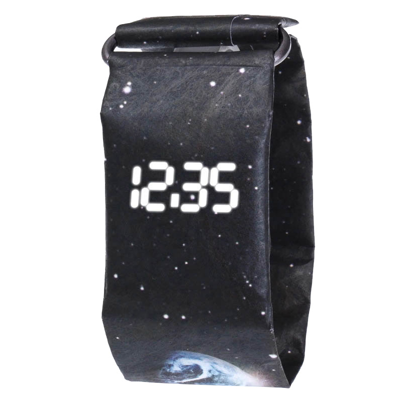 Hot Paper Watch Creative Trend LED Wristwatches Men Women Kids Waterproof Wrist Band Digital Watches Student Sport Watches Reloj