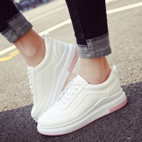Spring New Designer Wedges White Platform Sneakers Women Shoes 2018 Tenis Feminino Casual Flats Female Shoes