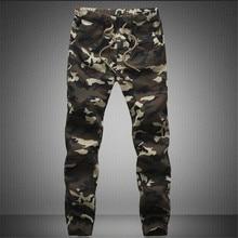 2018 New Joggers Men Hot Sale Casual Camouflage Pants Men Quality 100% Cotton Elastic Comfortable Trousers Men Plus Size M-3XL