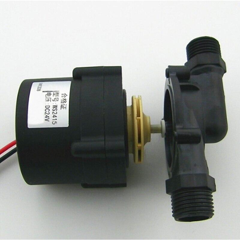 24 V Dc Booster Pomp Recycle Pomp Borstelloze Circulatiepomp Lift 15 M Hittebestendig Voor Elektrische Boiler Winst Klein