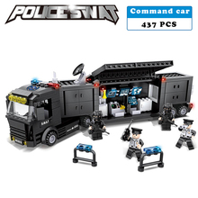 Police station SWAT Command vehicle troopers Military Series 3D Model constructing blocks suitable with lego metropolis Boy Toy hobbies Gift