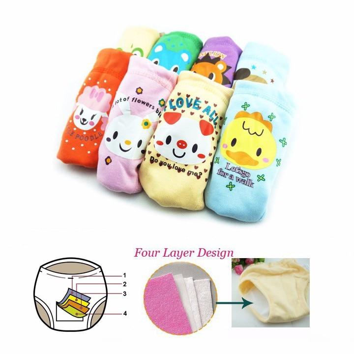 Pantalones de entrenamiento vendedores calientes 4 capas del bebé - Pañales y entrenamiento para ir al baño