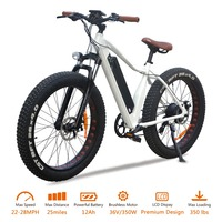 VTUVIA Aluminum Alloy 26 inch 36V 12Ah Lithium battery Electric bicycle 350W brushless motor Fat tire Mountain Electric bike