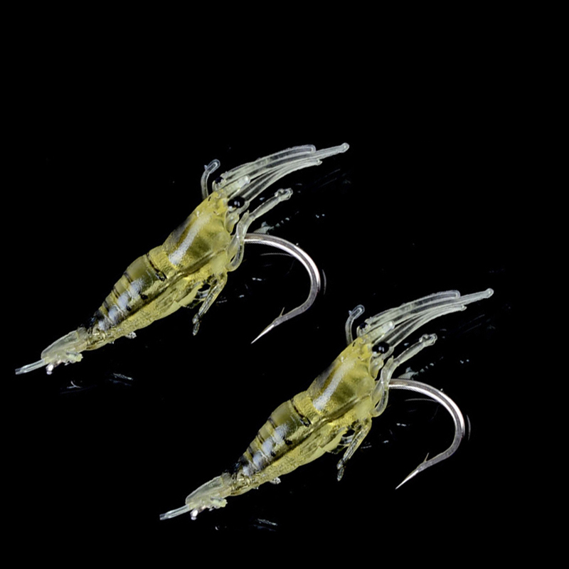 Hot Sale 20pcs lot 4cm 1 3g Fishing Shrimp Soft Lure With Hook Silicon Lure Artificial Fishing Lure Carp Fishing B220 in Fishing Lures from Sports Entertainment