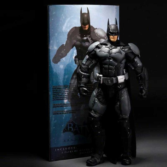 NECA 18 inch 1/4 Batman Arkham Asylum City model DOLL Action Figure Collectible Statue Toy With Retail Box