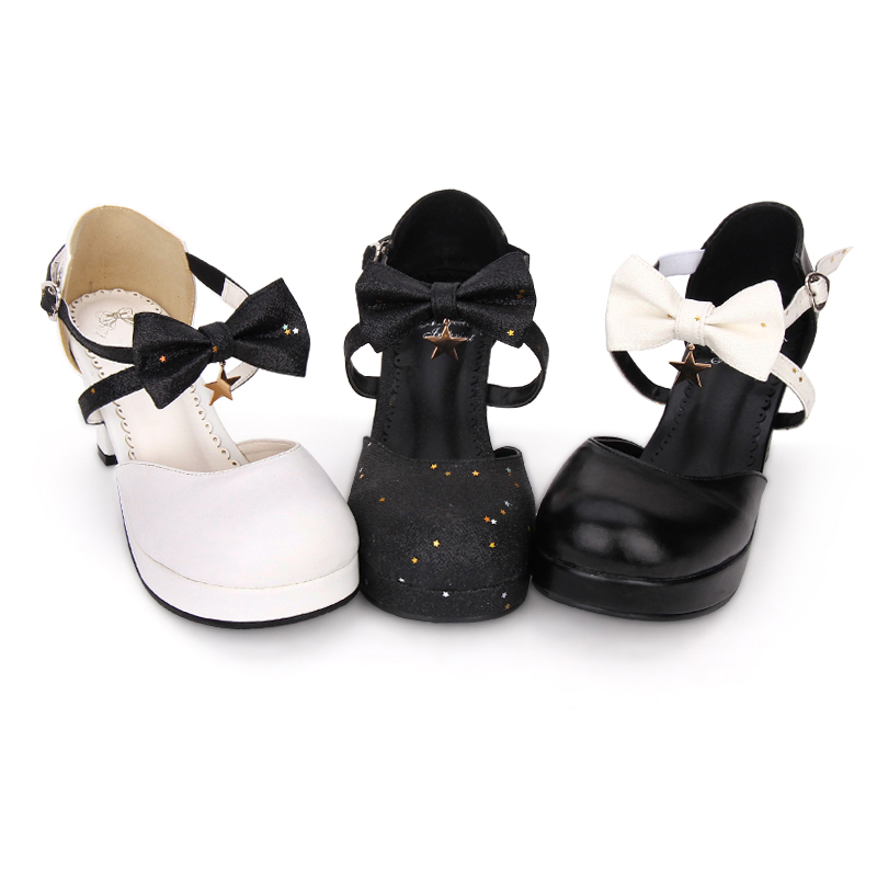 Angelic imprint woman mori girl lolita cosplay shoes lady high heels pumps Sweet High Heels Lolita Shoes size 35-46 8953 hot sale japanese harajuku mori girl sweet bowtie chunky heels cross straps kawaii lolita shoes free shipping