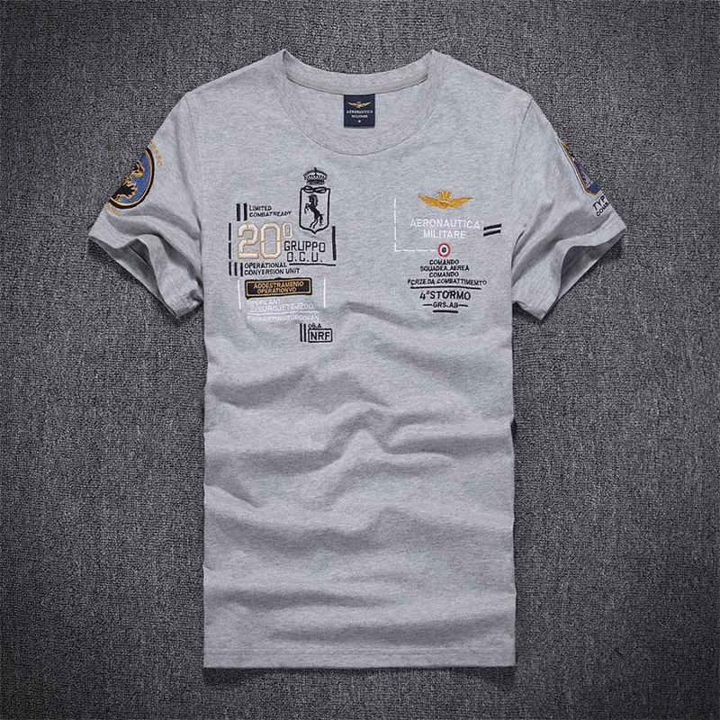 6 Models New Fashion Fitness Embroidery Aeronautica Militare Men T Shirt  Famous Brand Clothing Air Force 3777781e4