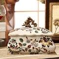 Europäischen-American Home Dekoration Retro-klassische Luxus Hohe Temperatur Keramik Schmuck Erhalt Lagerung Box Neue Chinesische Dosen D