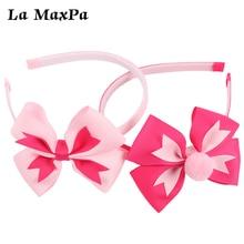 2pcs/Lot 4 Inch Girls Baby Hairband Pinwheel Babybow with Plastic Teeth Clothing Handmade Kids HairBand Hair Accessories