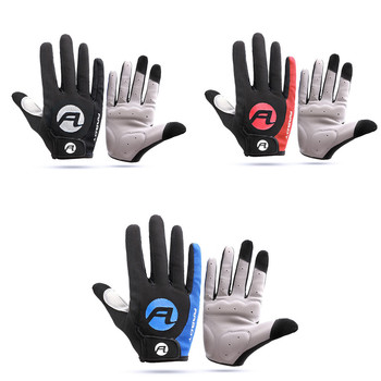1 Pair Anti-skid Sun-proof High Temperature Resistance Mountain Bike Warm Keeping Outdoor Cycling Running Touch Screen Gloves