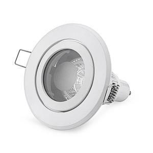Image 5 - Free Shipping 8PCS IP44 recessed Ceiling light holder round MR16 spotlight halogen lamp fixtures