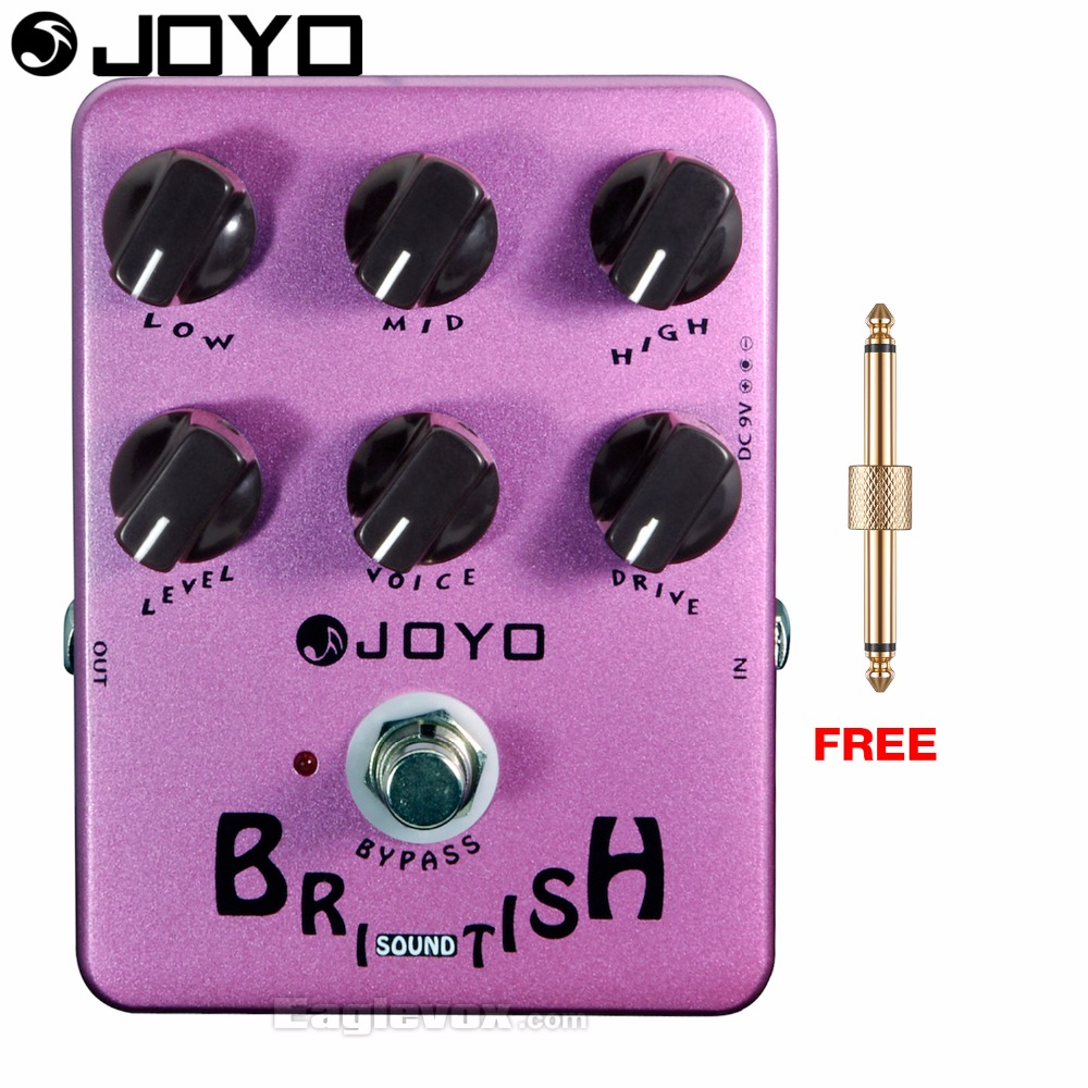 JOYO JF-16 British Sound Electric Guitar Effect Pedal True Bypass with Free Connector joyo jf 317 space verb digital reverb mini electric guitar effect pedal with knob guard true bypass
