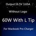 """Высокое Качество Для apple, magsafe 60 Вт 16.5 В 3.65A ноутбук адаптер питания зарядное устройство для Macbook pro13 """"A1184 A1330 A1344 A1278 A1342"""